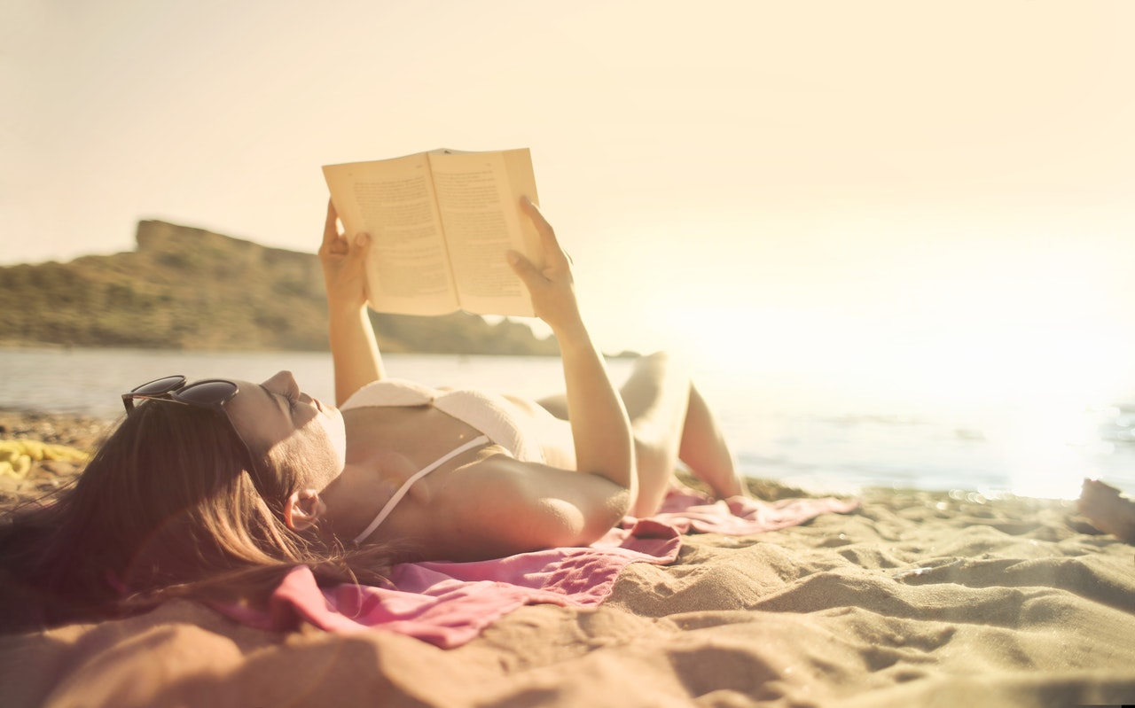 Woman Beach Reading